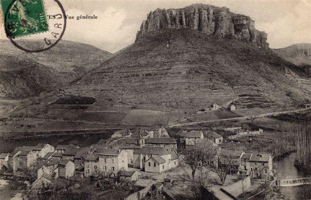 1-Trèves ancien, le village et le rocher du regard