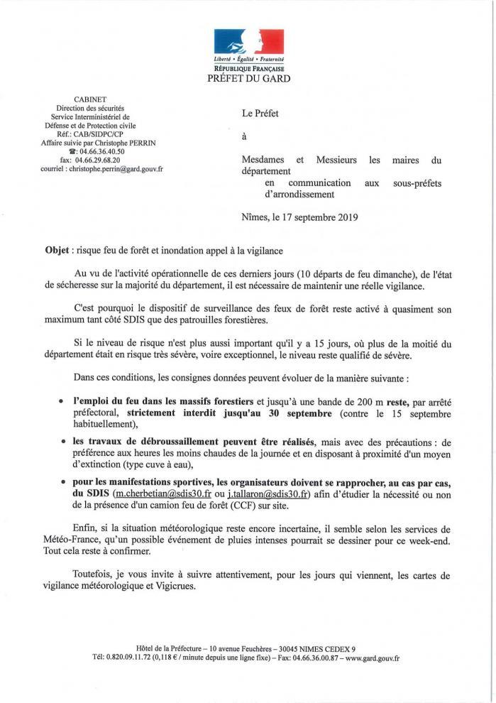 1 lettre aux maires septembre 2019